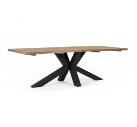 Table Bizzotto Ramsey pied noir