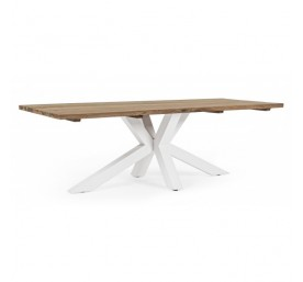 Table Bizzotto Ramsey pied blanc