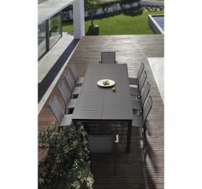 Table Bizzotto Konnor 160-240 cm extensible anthracite