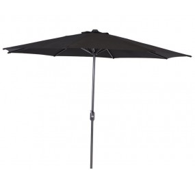 Parasol Lotus Ø300 noir hexagonal