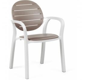 Chaise Nardi Palma blanc-taupe