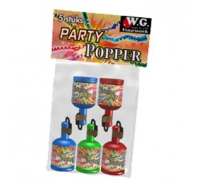Party Poppers 5 pcs