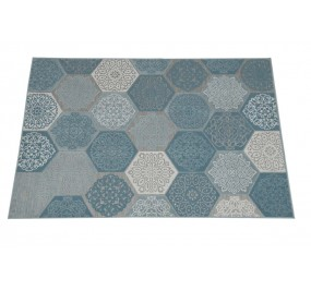 Tapis Hexagone 120x170 turquoise