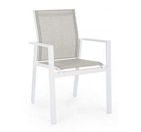 Chaise Bizzotto Crozet blanc
