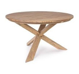 Table Bizzotto ronde Rift en bois recyclé